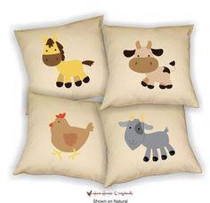 Playroom Pillow Cover Kid Playroom Decor Farm by ItsyBitsyWear