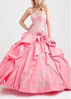 Attractive Taffeta & Organza Satin Sweetheart Ball Gown