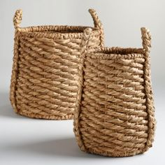 Oversized Natural Carrie Tub Basket Collection | World Market $40.00- $60.00 really like these