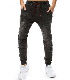 Čierne pánske jogger nohavice s džínsovým vzhľadom Parachute Pants, Black Jeans, Fashion, Moda, Fasion