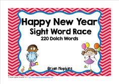Happy New Years Sight Word Race is a game where students read a sight word and then roll one die (dice) and move that many spaces on the game board. There are some fun cards that will tell your students to go back to start or roll again. This one has clocks to the hour in order from 12:00 to 12:00. If you want to throw some math into the game have the student also read the time on the clock. Older children can tell the elapsed time from the clock they are on to the next clock ....