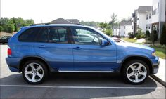 Bmw X5 E53, Bavarian Motor Works, Blue Check, Car Stuff, Side View, Old Women, Cool Cars, Planes, Dream Cars