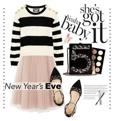 """""""She's got it"""" by vladoslav ❤ liked on Polyvore featuring Coast, Paul & Joe Beaute, Boutique Moschino, J.Crew, NYX, Chanel, Tory Burch, Clinique, NewYearsEve and nye"""