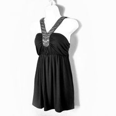 Brand new! Romeo & Juliet Couture Beaded Embellished Tank Strappy Club Top Women's Size Medium (M)      Half off--was $119 now $59 with FREE shipping to anywhere in the US & Canada from TheCheapSkirt.com