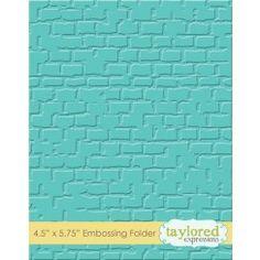 Embossing Folder - Brick