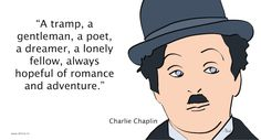 charlie-chaplin Charlie Chaplin, Lonely, The Dreamers, Gentleman, Romance, Adventure, Quotes, Romance Film, Quotations