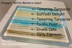 Stampin' Write Markers, markers on acrylic block, stampin up, wetlands, handmade cards