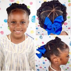 My kid-friendly version of the crown/halo twist.  Video tutorial on my channel, just click the link in my bio.  #halotwist #goddesstwist #ponytails #backtoschoolhairstyles #crowntwist #naturalista #naturalhairmag #curlykidshaircare #protectivestyle #backtoschool #curliesunleashed #backtoschoolcurlies #theBLUEbowgirl  #IAMAWOG