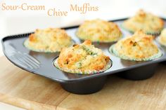 Sour Cream Chive Muffins #BHGSummer