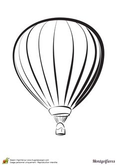 Dessin à colorier d'une montgolfière. Air Balloon Tattoo, Hot Air Balloon, Hand Tattoos, Tatoos, Sister Tattoos, Mail Art, Illustrations, Crafts To Do, Van Gogh