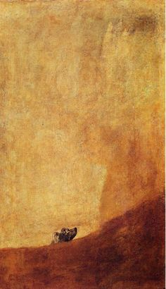 Half-submerged dog - Francisco Goya - 1819-1823