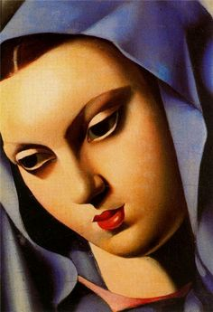 . Tamara de Lempicka Vierge bleue, 1934 (Vergine blu) olio su tavola, 19,5x13,5 cm Collezione privata