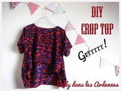 DIY crop top| Dolly dans les Ardennes