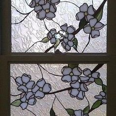 Stained Glass Windows - Dogwood Flower Design by