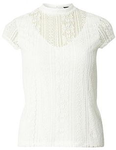 Womens ivory top from Dorothy Perkins - £15 at ClothingByColour.com