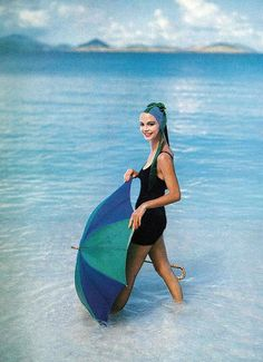 Gretchen Harris in the Virgin Islands, photo by Richard Rutledge, Vogue Jan. 1957