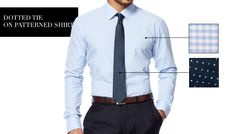 Nice shirt-tie combinations.