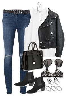 """""""Sem título #1204"""" by oh-its-anna ❤ liked on Polyvore featuring 3x1, Monki, Acne Studios, Yves Saint Laurent, The Kooples, Hanky Panky, ASOS and Chan Luu"""