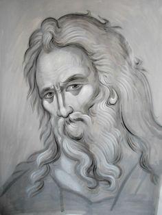 Frescele lui Alexandru Soldatov (Partea a Byzantine Icons, Byzantine Art, Monochrome Painting, Face Icon, Best Icons, Thread Painting, Abstract Portrait, Art Base, Celtic Designs