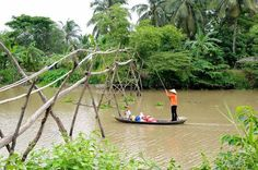 The Mekong Delta is the region in southwestern Vietnam where the Mekong River approaches and empties into the sea through a network of distributaries. Vietnam Destinations, Vietnam Tours, Vietnam Travel, Mekong Delta Vietnam, Australia Animals, Exotic Fruit, Travel News, Countryside, Scenery