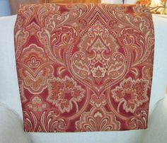 Headrest Chair Protector or Cover 34 x 14 by annmerrilldesigns