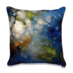 DQrts - Jenn Shifflet - Azul Light Drops - JW_001 - The Visual Aid Pillow Project is an opportunity to collect a limited edition pillow by accomplished artists while supporting artists in need. These printed pillows have been curated to accent beautifully in your home or office.