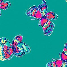 Lilly Pulitzer Tropez Blue Ive Got Butterflies