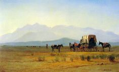 Surveyor's Wagon in the Rockies by Albert Bierstadt, ca. 1859