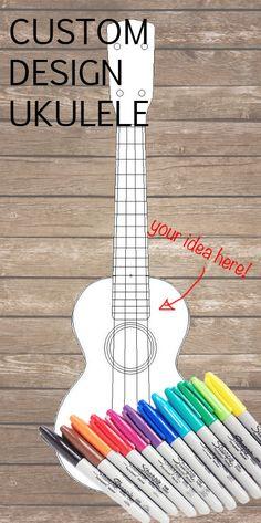 CUSTOM designed ukulele - Your idea hand-painted onto a ukulele!                                                                                                                                                                                 More