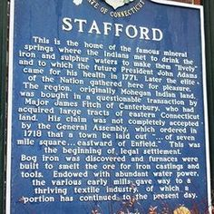 Stafford Historical Sign