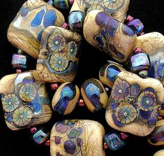 DSG Beads Handmade Organic Lampwork Glass - Psychedelic (Made To Order)