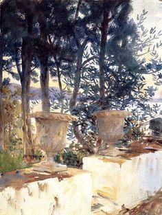 Corfu The Terrace 1909 John Singer Sargent