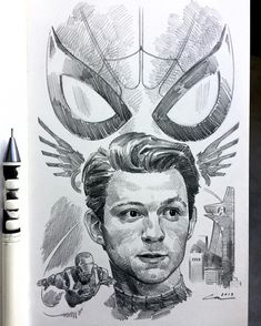 Spiderman Art, Amazing Spiderman, Cool Art Drawings, Art Drawings Sketches, Avengers Painting, Avengers Drawings, Realistic Sketch, Marvel Wallpaper, Marvel Art
