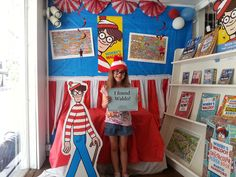I found Waldo!  Waldo photo booth at The Book Nook in Brenham, TX.  #findwaldolocal