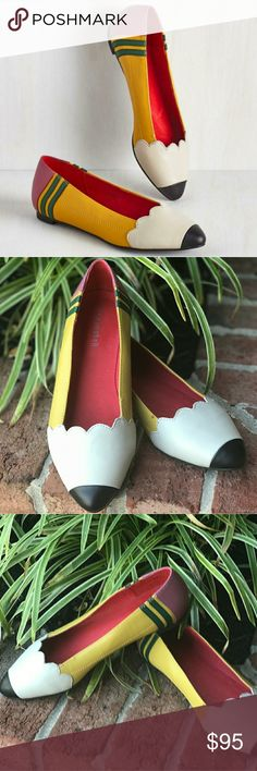 Jeffery Campbell Pencil Shoes These Jeffery Campbell flats are perfect for back to school! Great for teachers! They are genuine leather and in amazing condition. Jeffrey Campbell Shoes Flats & Loafers