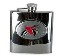 NFL 6-oz. Stainless Steel Hip Flask, ARIZONA CARDINALS by SISKIYOU SPORTS. $25.95. Arizona Cardinals Logo. Features solid Pewter emblem. 6 Ounce Stainless Steel Flask. Having a ball? NFL Hip Flask. Down! Set! Sip! You'll love slurping a pinch of your favorite hooch as you cheer for your favorite team. And this Flask is also the perfect gift for the fan in your life! Here's the details: Premium, stainless steel construction... no plastic jug taste!; Sculpted and enameled pe...