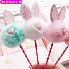 Kawaii Pens, Cute Pens, Pom Pom Crafts, Diy Ostern, Paper Crafts, Diy Crafts, Easter Activities, Dollar Store Crafts, Easter Crafts For Kids