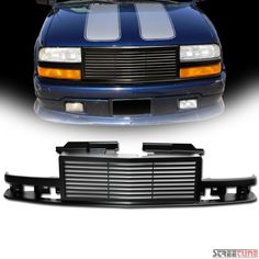 Matte Blk Horizontal Billet Front Grill Grille Kit 98-04 Chevy S10 Blazer/Pickup | eBay Motors, Parts & Accessories, Car & Truck Parts | eBay!