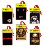 Playbill Ornaments from the Broadway Cares Classic Collection -  Set of Six
