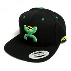 Cactus Ropes by HOOey Black and Green Snapback Hat CR001 Cowboy Hats a0c32594782
