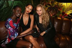Ajak Deng, Lais Ribeiro, and Chase Carter
