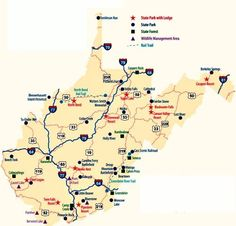 A handy guide to West Virginia State Parks. Looking forward to visiting more of these beauties.