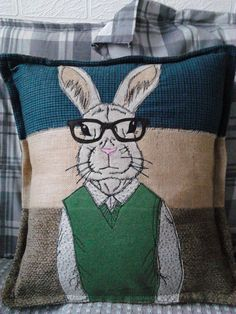Hipster Animal Cushions. Dressed to impress. от PaddyMacDesigns