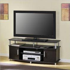altra furniture carson 48 inch tv stand espresso corner tv standsflat - Corner Tv Stands For Flat Screens