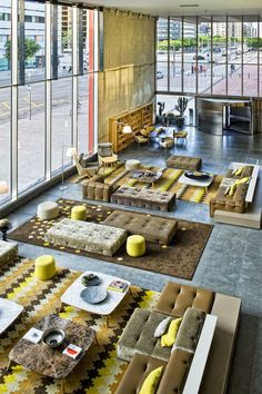 Creative hotel interior ideas or amazing ways to design a restaurant Explore our design world of brands manufacture management media and retail Lounge Design, Cafe Design, Hotel Lobby Design, Modern Hotel Lobby, Hotel Lounge, Lobby Lounge, Ac Hotel, Office Lounge, Deco Restaurant