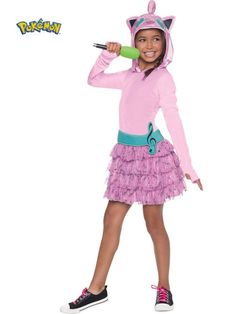 Check out Pokemon Jiggly Puff Hooded Girl's Costume - Wholesale Party Supplies… Wholesale Halloween Costumes, Halloween Costumes For Kids, Halloween 2018, Halloween Cosplay, Pokemon Rose, Girl Costumes, Costumes For Women, Jigglypuff Costume, Costumes Pokemon