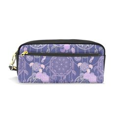 COOSUN Pattern With Dream Catcher Roses Leaves And Feather Portable PU  Leather Pencil Case School Pen 0ab687ab5c91