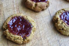 Ginger Jam Thumbprint Cookies via http://beyondthebite4life.blogspot.com/2015/02/paleo-ginger-jam-thumbprint-cookies-aip.html #paleo #aip #primal