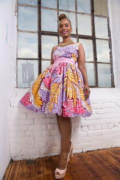 La un Y un vestido hecho de cera holandesa Vlisco por LiLiCreations