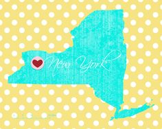 Perspective... free ny printable.  comment which state you want and I'll create it!